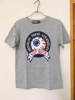 🚚 街頭 Mishka眼球 潮牌 灰色短T 短袖 #半價衣服市集