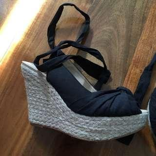 Therapy strappy tie ups Wedge