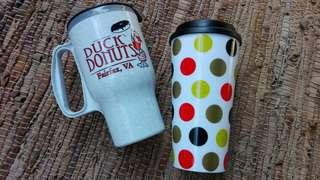 Macy's and duck donuts acrylic tumblers coffee sippy cups