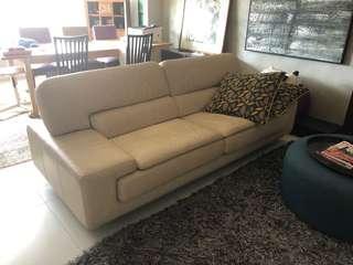 4+ seater Leather Sofa