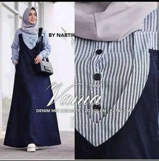 Dress muslim fashion  variasi navy