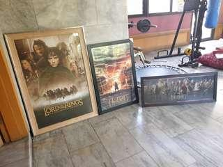 Lord of the rings hobbit posters