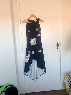 LUVALOT   Hi Low Dress in Navy Floral   Size 6   Worn Once