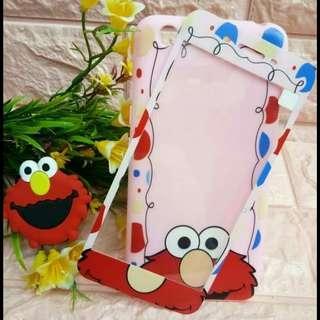 New! 3- in- 1 Elmo 3D Case + Tempered Glass + Pop Socket