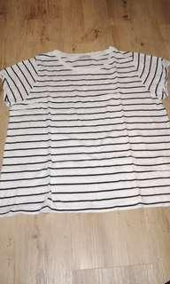 Back and white striped shirt