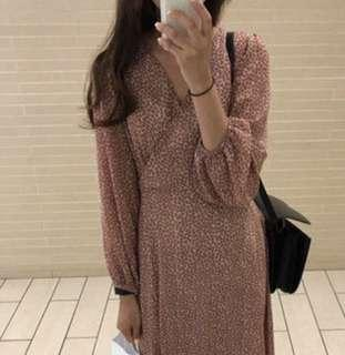 Floral midi dress long sleeve - Brand new with tag