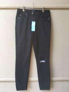 Kookai black washed rip jeans