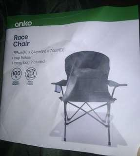 Portable summer folding race chair for outdoor