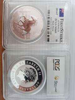 First strike 2014 stock horse 01 oz silver