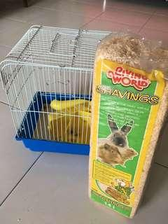 Hamster Cage with shavings