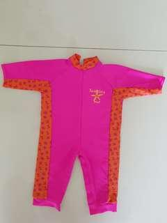 Baby girl swimming costume pink 6-12 mths
