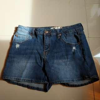 Pull & Bear Ripped Short Jeans