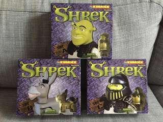 絕版史力加 Kubrick Shrek Figure Set A B C 款齊套 Medicom Toy