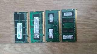 Laptop RAM modules PC2 / DDR II / DDR2, 1GB - 4pcs