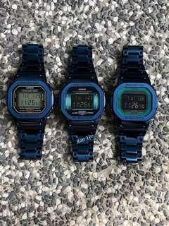 🚚 Latest IN thing in the G Shock world , Custom Metal bezel in original Casio G-Shock 5600 , blue metal DW5600 , dw-5600 , Casio , CASIO , casio
