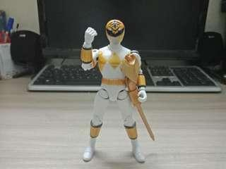 2008 Bandai Original Mighty Morphin Power Rangers Super Legends White ranger Tommy Oliver Action Figure