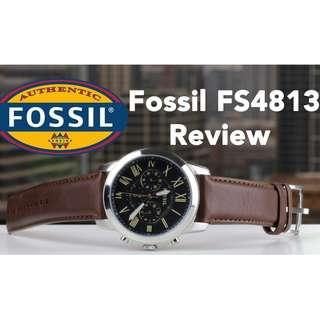 🚚 [CHEAPEST PRICE] Fossil Grant Men's Brown Leather Watch FS4813