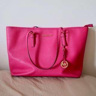🚚 Michael Kors MK Large Tote Bag (Hot Pink)
