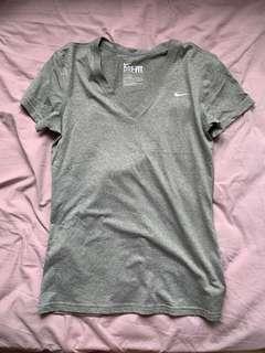 Nike grey dri fit top S