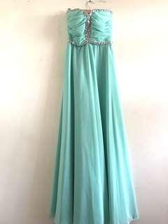 Teal Prom Ball Gown