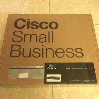 全新 Cisco SG300 10 ports gigabit managed switch