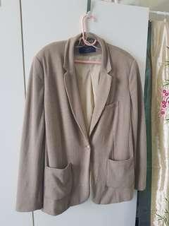 Plus Size Tan Khakis Blazer