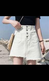 大碼女裝白色短裙