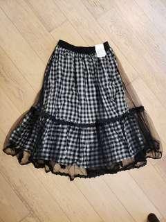 Checker Tulle Skirt 日本格仔紗裙