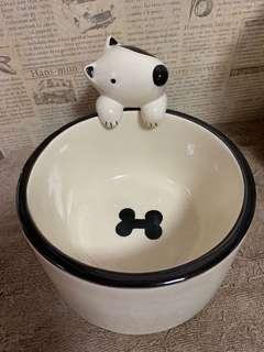 狗狗造型 立體 瓷碗 食物碗