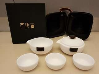 REDUCED: NEW Dehua White Porcelain Travel Teaset