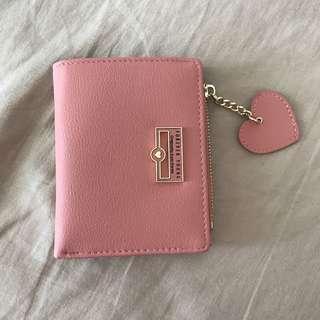 🚚 Pastel Pink Heart Wallet