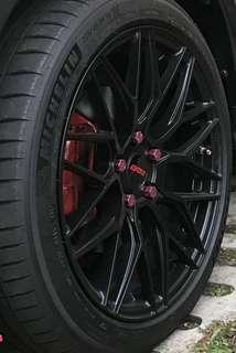 🚚 Volks Rays Red Wheel Nut