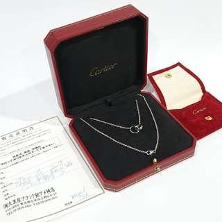 Reserved! Authentic Cartier White Gold  Love Necklace, 18K white gold