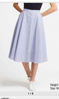 Cirular light blue skirt