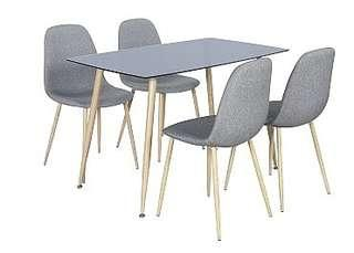 Affordable table and chairs modern look