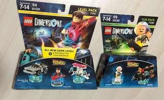 WB Lego Back To The Future Marty McFly Level Pack + Doc Brown Fun Pack - Lego Dimensions
