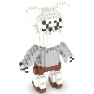 PO Kaws White and Grey Bearbrick Nanoblock