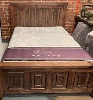 Rustic bed frame affordable cheap prices  sold Separate is tallboy and bedside