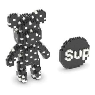 PO Supreme Black Bearbrick Nanoblock