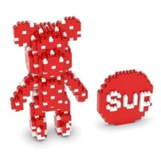 PO Supreme Red Bearbrick Nanoblock