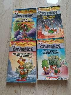 🚚 Geronimo Stilton Cavemice books