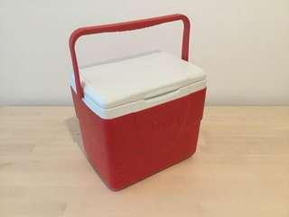 Red small cooler box