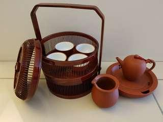 Clay travel teaset