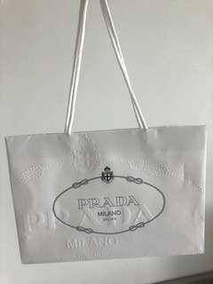 Prada paper bag
