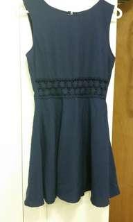 F21 blue dress. Mint condition worn ones or twice.