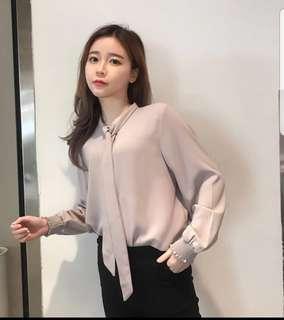 BRAND NEW ! Korean style long sleeve blouse