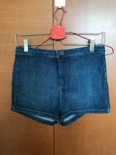 Topshop moto high waisted daisy duke (super short jeans)