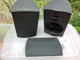 Surround sound front and rear speakers