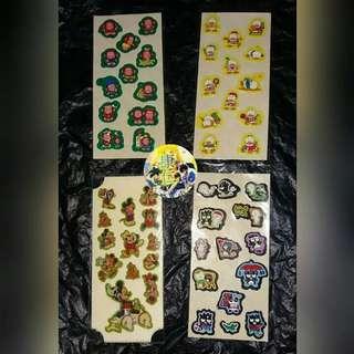 貼紙 Ahiruno PekkleAP鴨 Pekkle鴨 XO  Monkichi 馬騮仔 sanrio 迪士尼 米奇老鼠 卡通 文具