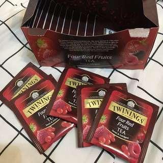 🚚 唐寧 tiwnings 果茶 四季果茶 紅茶 茶包 四果 櫻桃 草莓 20包